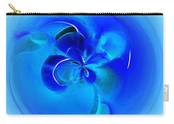 Aqua Blue Orb Carry-all Pouch