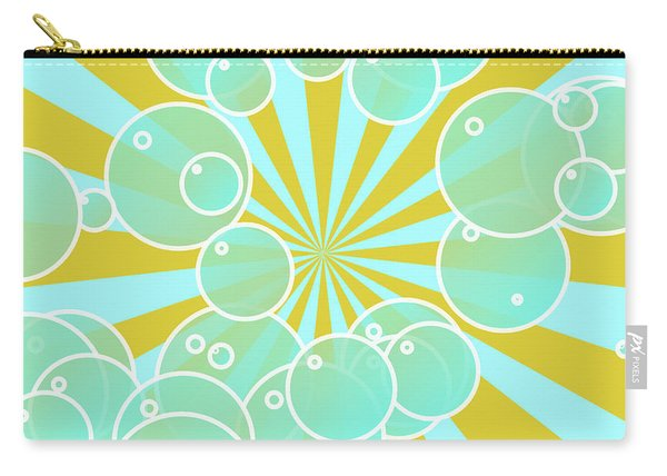 Aqua Bubbly Art Carry-all Pouch