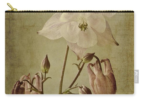 Aquilegia Vulgaris With Textures Carry-all Pouch