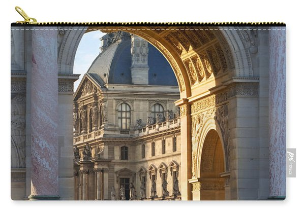 Carry-all Pouch featuring the photograph Arc De Triomphe Du Carrousel by Brian Jannsen