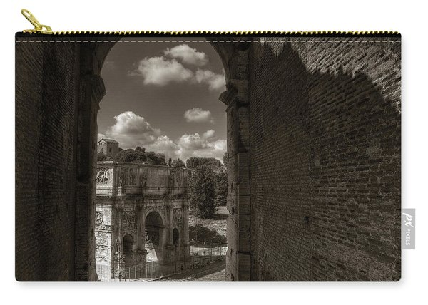 Arch Of Constantine From The Colosseum Carry-all Pouch