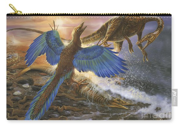 Archaeopteryx Defending Its Prey Carry-all Pouch