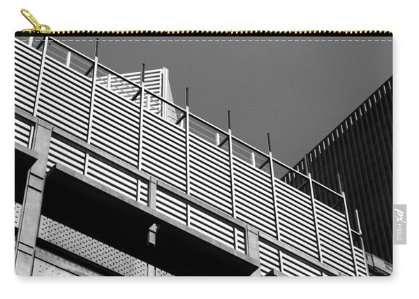 Architectural Lines Black White Carry-all Pouch