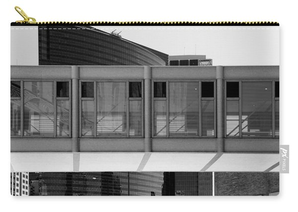 Architectural Pattern Glass Bridge Black White Carry-all Pouch