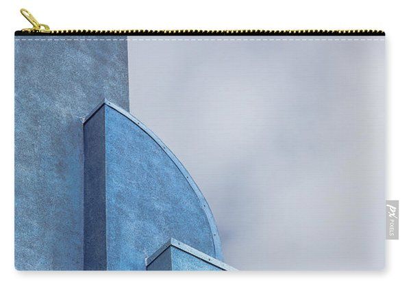 Carry-all Pouch featuring the photograph Architecture In Blue by Susan Leonard