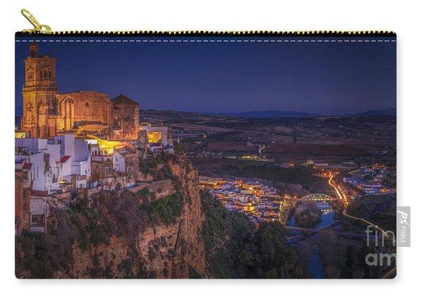 Arcos De La Frontera Panorama From Balcon De La Pena Cadiz Spain Carry-all Pouch