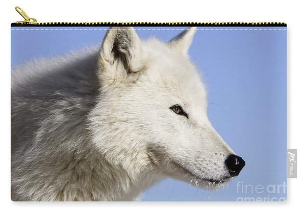 Arctic Wolf, Canis Lupus Arctos Carry-all Pouch