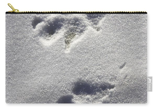 Arctic Wolf Tracks Carry-all Pouch
