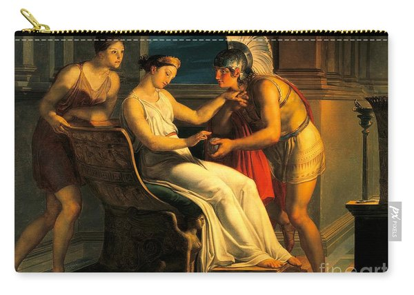 Ariadne Giving Some Thread To Theseus To Leave Labyrinth Carry-all Pouch