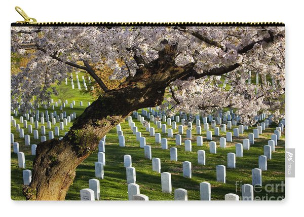 Carry-all Pouch featuring the photograph Arlington National Cemetary by Brian Jannsen