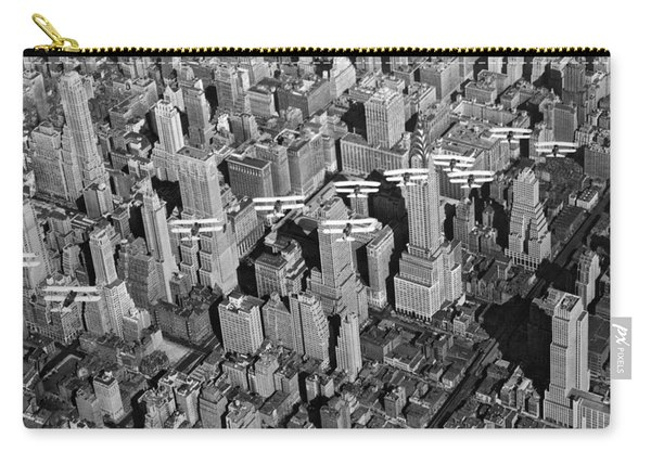 Army Air Corp Over Manhattan Carry-all Pouch