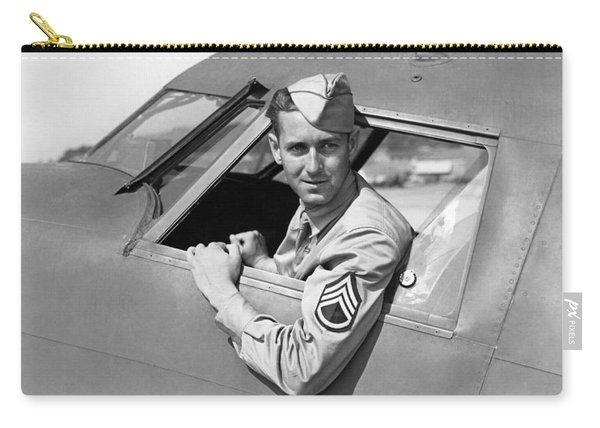 Army Pilot Looking Out Window Carry-all Pouch