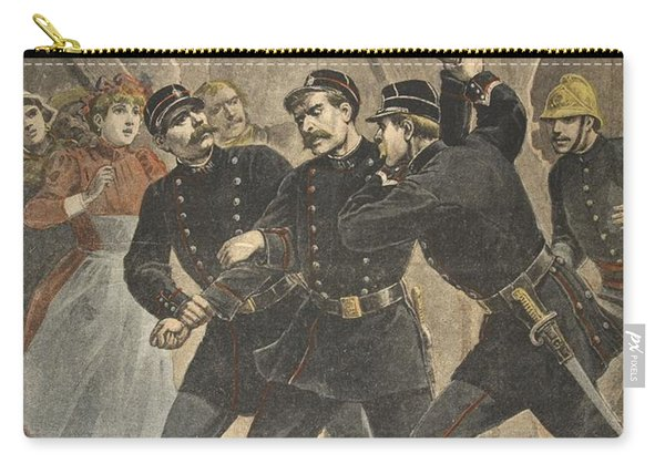 Arrest Of A Town Sergent, Illustration Carry-all Pouch