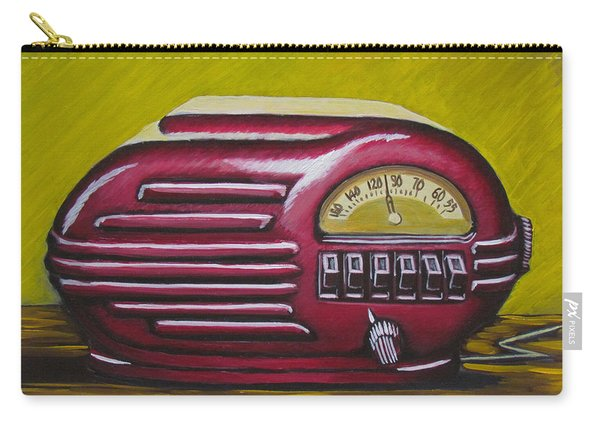 Art Deco Radio Carry-all Pouch