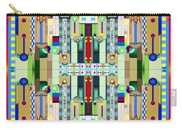 Art Deco Stained Glass 2 Carry-all Pouch