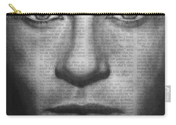 Art In The News 32- Brad Pitt Carry-all Pouch