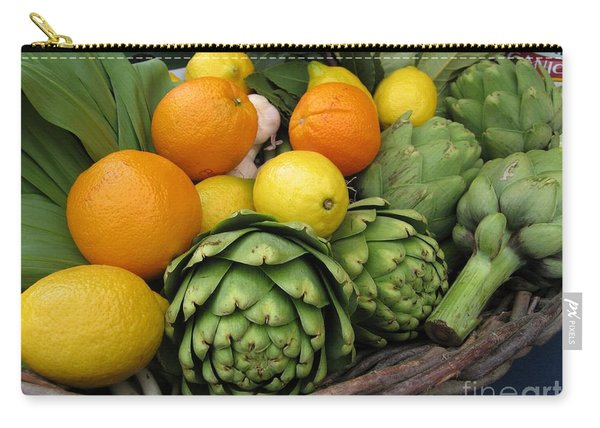 Artichokes Lemons And Oranges Carry-all Pouch