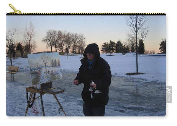 Artist At Work Lake Shore Mississauga On Carry-all Pouch