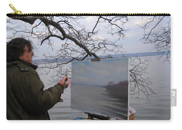Artist At Work Nyack Park Ny Carry-all Pouch