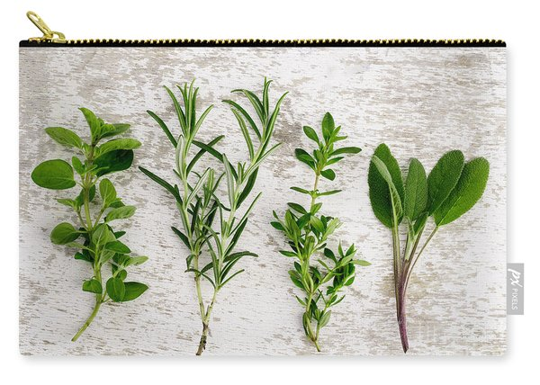 Assorted Fresh Herbs Carry-all Pouch
