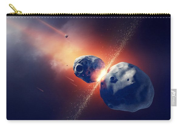 Asteroids Collide And Explode  In Space Carry-all Pouch