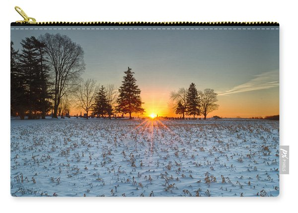 Carry-all Pouch featuring the photograph At First Light by Garvin Hunter
