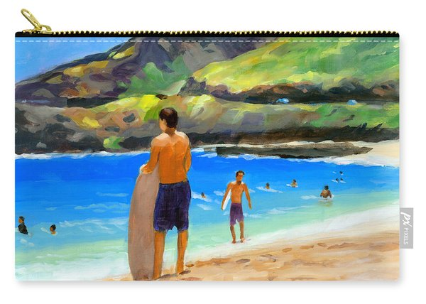 At Sandy Beach Carry-all Pouch