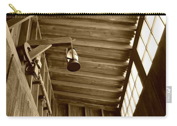 At The Museum - Sepia Carry-all Pouch