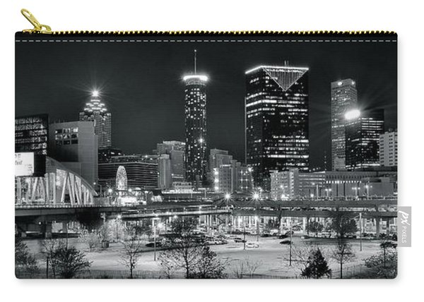 Atlanta Panoramic Black And White Carry-all Pouch