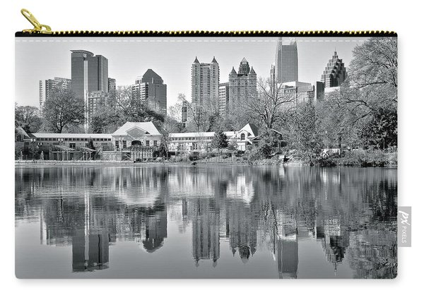 Atlanta Reflecting In Black And White Carry-all Pouch