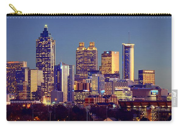 Atlanta Skyline At Dusk Downtown Color Panorama Carry-all Pouch