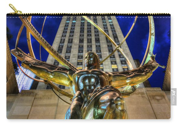 Atlas Statue At Rockefeller Center Carry-all Pouch