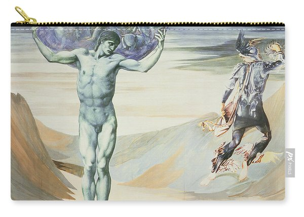 Atlas Turned To Stone, C.1876 Carry-all Pouch
