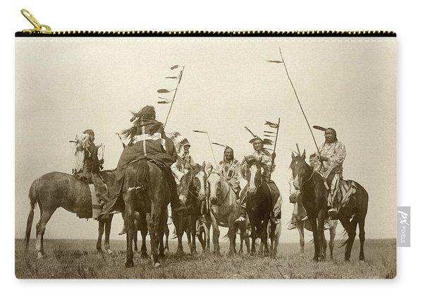 Atsina Warriors On Horseback Carry-all Pouch