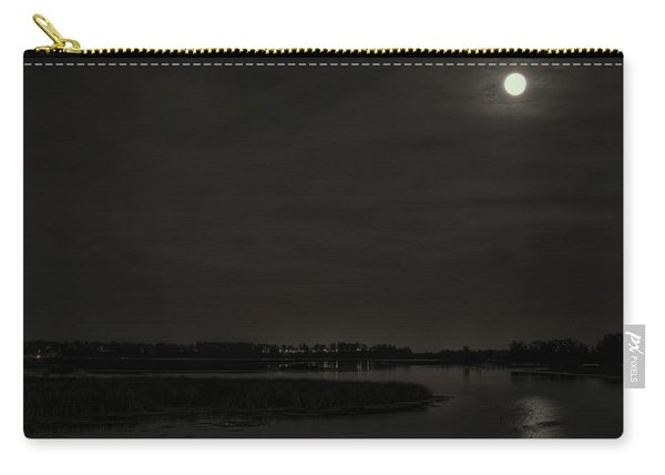 August Full Moon Over Lake Wausau Carry-all Pouch