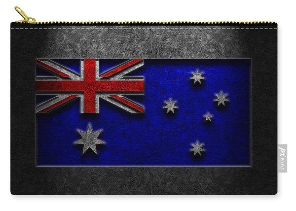 Australian Flag Stone Texture Carry-all Pouch