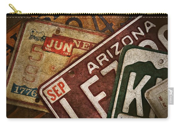 Automobile License Plates Carry-all Pouch
