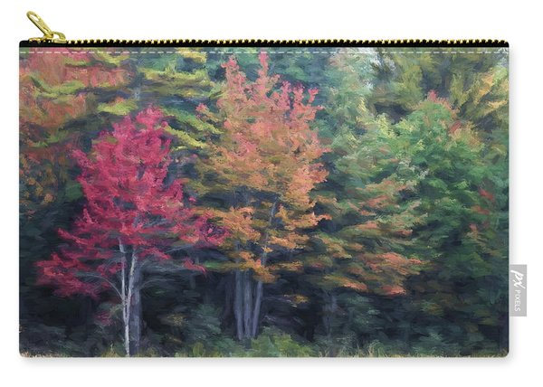 Autumn Color Painterly Effect Carry-all Pouch