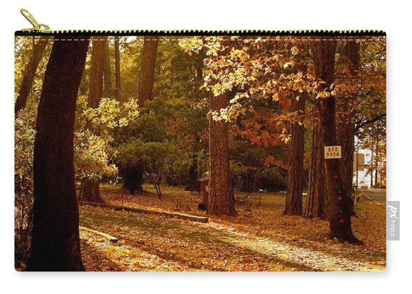 Autumn Country Lane Evening Carry-all Pouch