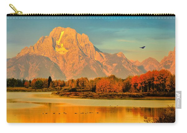 Autumn Dawn At Oxbow Bend Carry-all Pouch