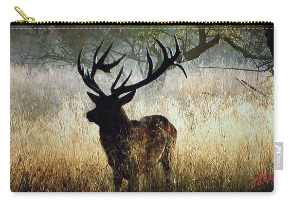 Carry-all Pouch featuring the photograph Autumn Forest Walk In Denmark  by Colette V Hera  Guggenheim