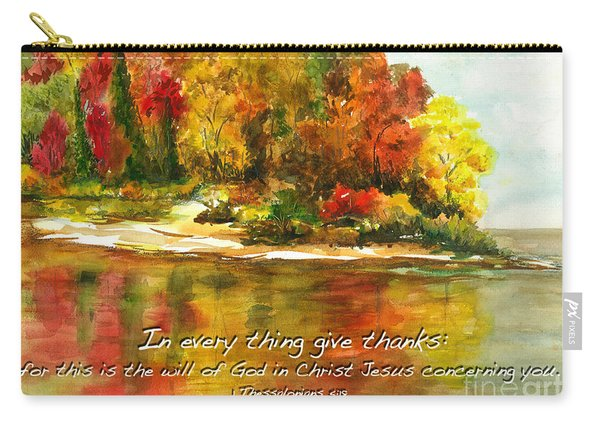 Autumn Lake 1 Thessalonians 5  Carry-all Pouch