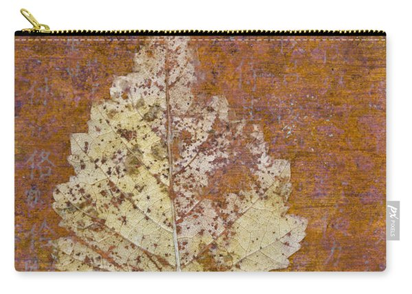 Autumn Leaf On Copper Carry-all Pouch