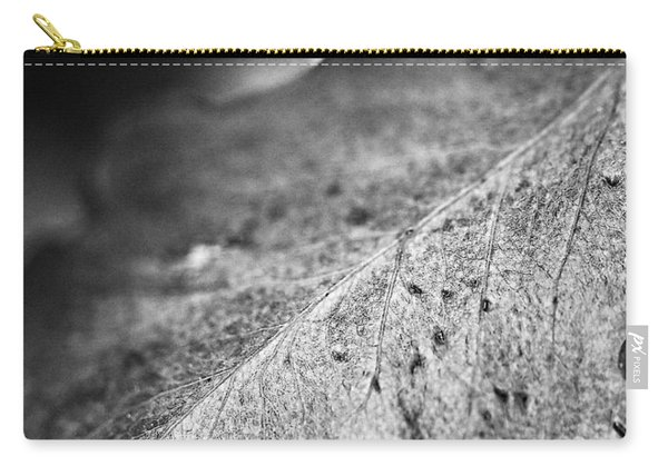 Autumn Leaves B And W Carry-all Pouch