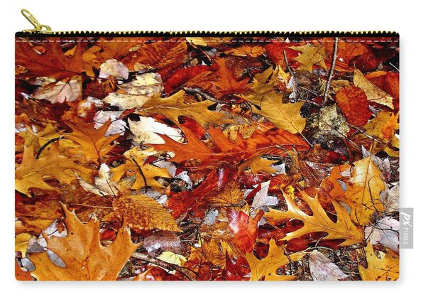 Autumn Leaves On The Ground In New Hampshire - Bright Colors Carry-all Pouch