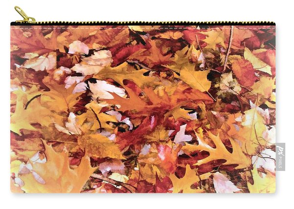 Autumn Leaves On The Ground In New Hampshire In Muted Colors Carry-all Pouch