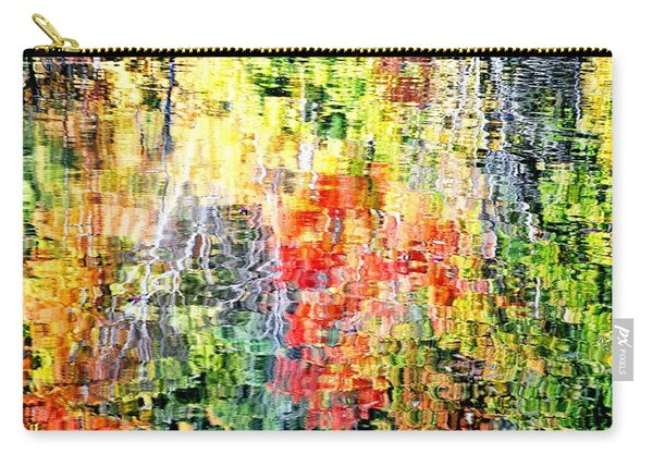 Autumn Leaves Reflected In Pond Surface Carry-all Pouch