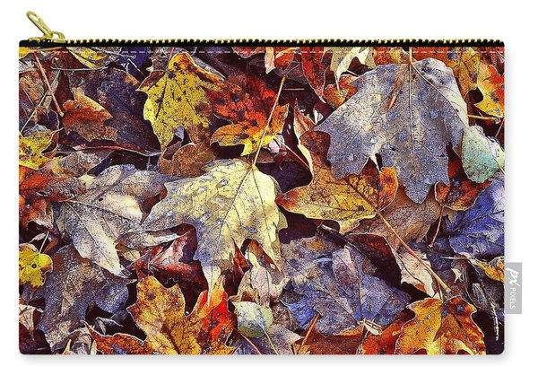 Autumn Leaves With Frost Carry-all Pouch