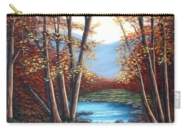 Autumn Mountain Stream  Carry-all Pouch