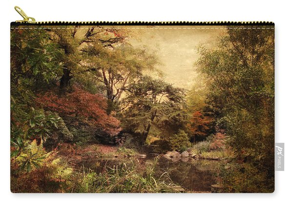 Autumn On Canvas Carry-all Pouch